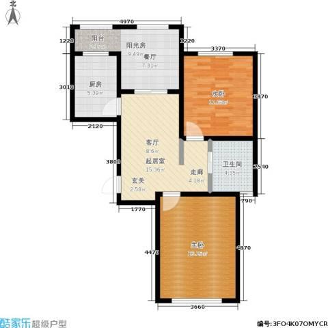 新里摩尔公馆2室0厅1卫1厨89.00㎡户型图