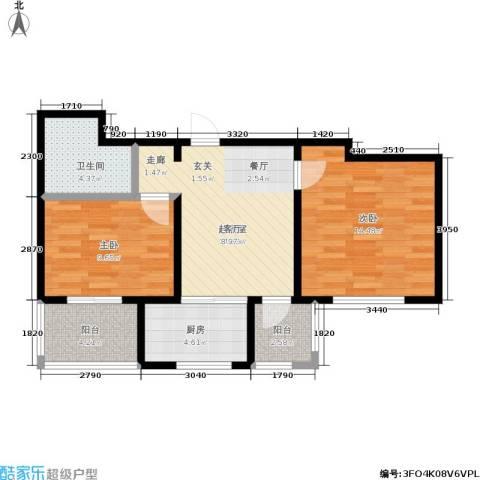 新里摩尔公馆2室0厅1卫1厨78.00㎡户型图