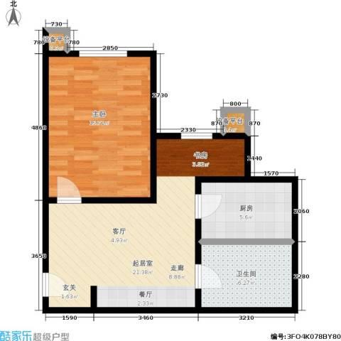 摩根・凯利1室0厅1卫1厨68.00㎡户型图