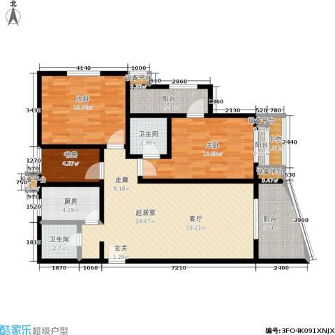 摩根・凯利3室0厅2卫1厨138.00㎡户型图