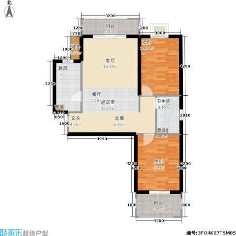 花溪里2室0厅1卫1厨98.00㎡户型图