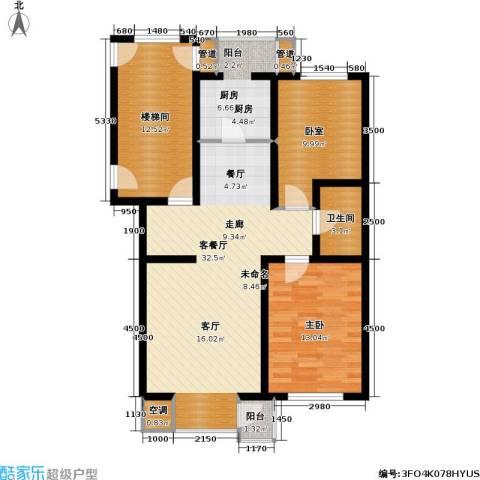 北美家园一期1室1厅1卫1厨80.94㎡户型图