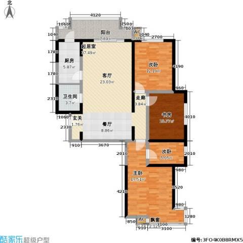 超英天际4室0厅1卫1厨140.00㎡户型图