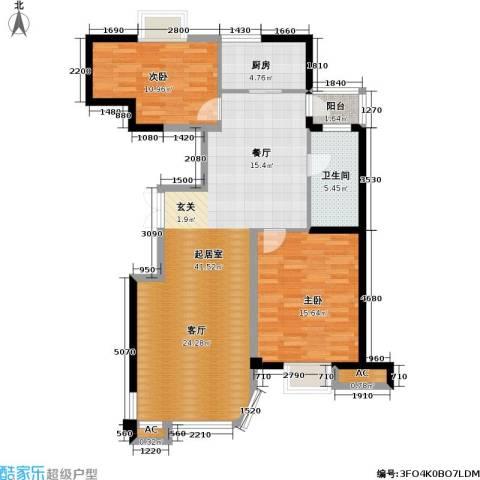 碧海尚城2室0厅1卫1厨81.08㎡户型图