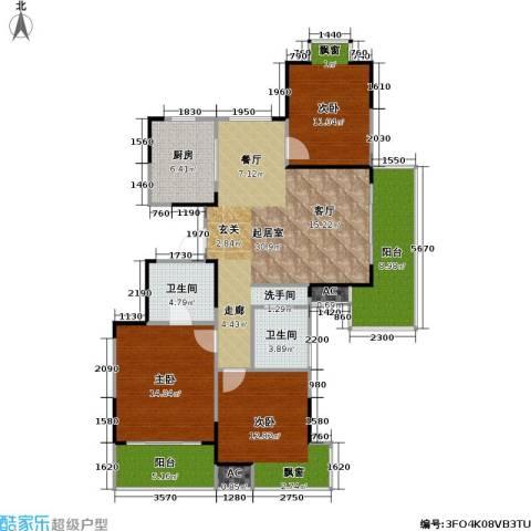 湖岸名家3室0厅2卫1厨135.00㎡户型图