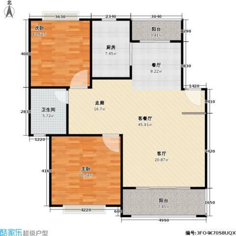 好世凤凰城一期2室1厅1卫1厨133.00㎡户型图
