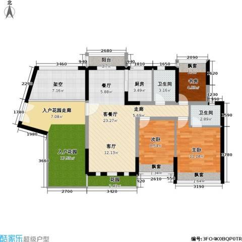 碧水龙庭3室1厅2卫1厨100.00㎡户型图
