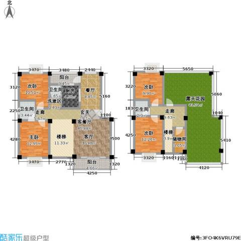 合顺景苑4室1厅3卫1厨242.00㎡户型图