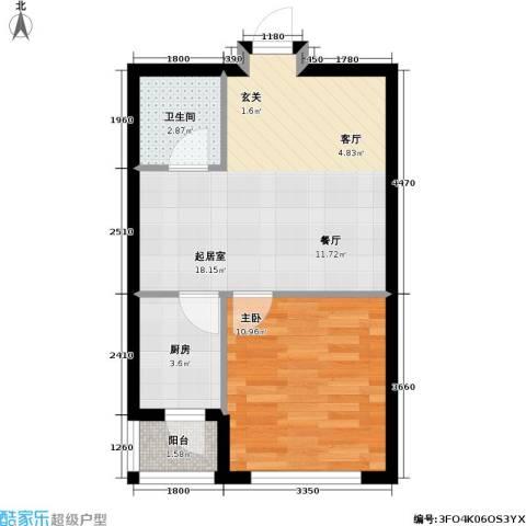 宏伟金都四期1室0厅1卫1厨38.00㎡户型图