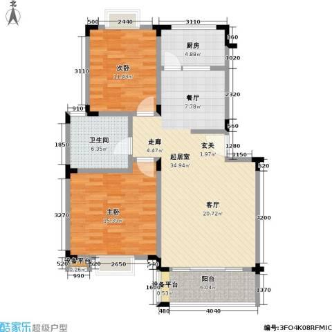 龙居山庄2室0厅1卫1厨90.00㎡户型图
