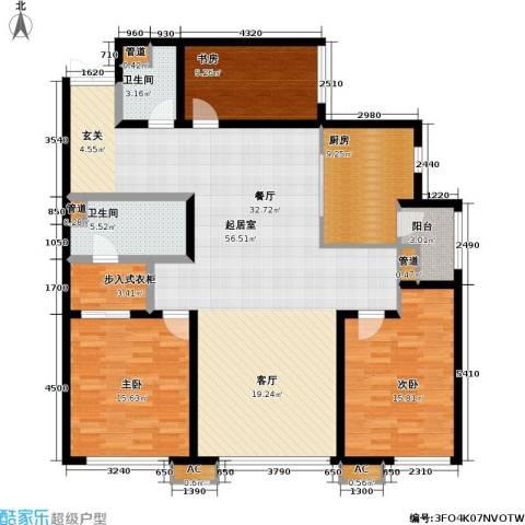 SR国际新城一期3室0厅2卫1厨176.00㎡户型图