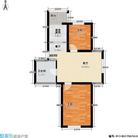 宏伟金都四期2室0厅1卫1厨70.00㎡户型图