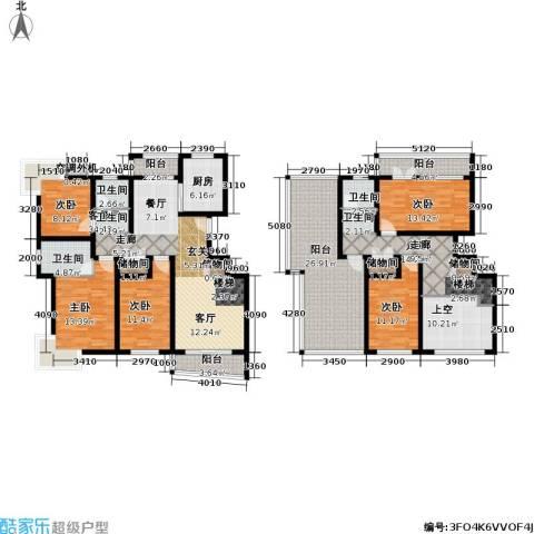 月泉湾名邸5室1厅3卫1厨203.78㎡户型图