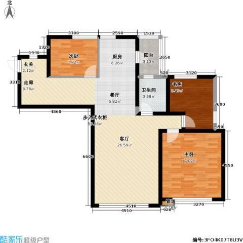 SR国际新城一期3室0厅1卫0厨129.00㎡户型图