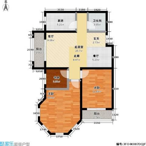 新里摩尔公馆3室0厅1卫1厨98.00㎡户型图