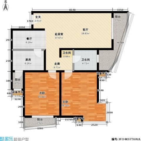 摩根・凯利2室0厅1卫1厨95.31㎡户型图