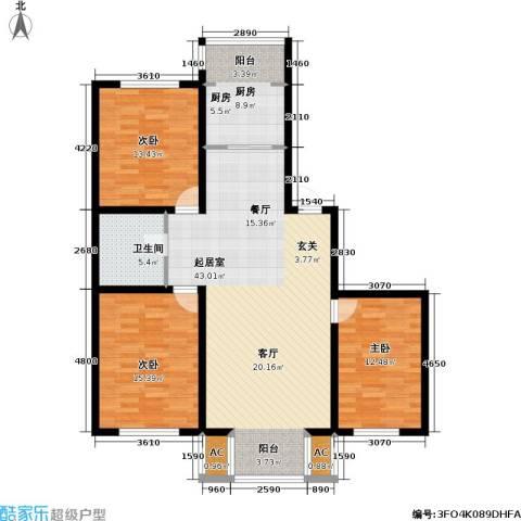 宏伟金都四期3室0厅1卫1厨115.00㎡户型图