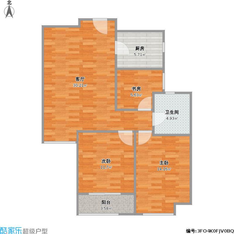 Park郡100平C1三室两厅一卫