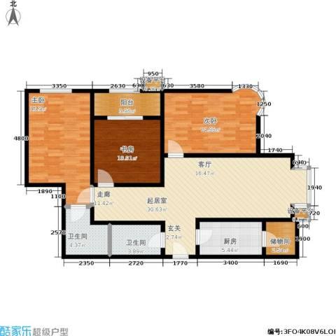 摩根・凯利3室0厅2卫1厨129.00㎡户型图