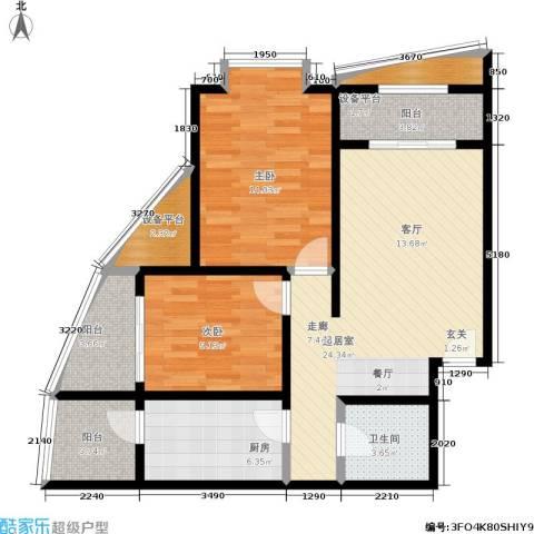 摩根・凯利2室0厅1卫1厨86.00㎡户型图