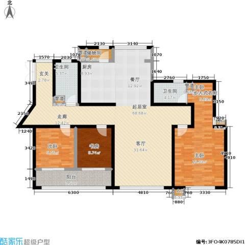 SR国际新城一期3室0厅2卫0厨189.00㎡户型图