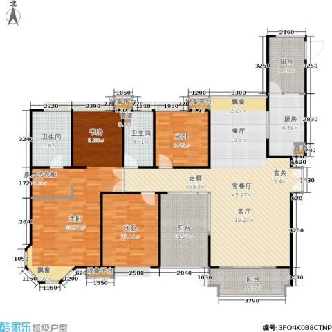 中海湖滨一号3室1厅2卫1厨158.00㎡户型图