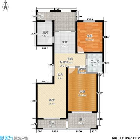 新里摩尔公馆2室0厅1卫1厨122.00㎡户型图