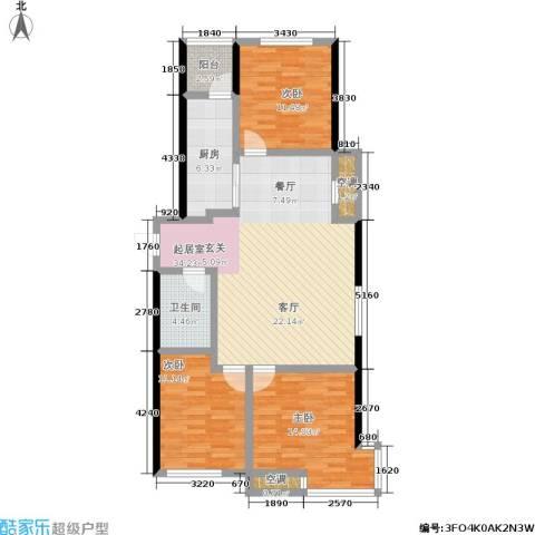 居易青年城3室0厅1卫1厨96.00㎡户型图