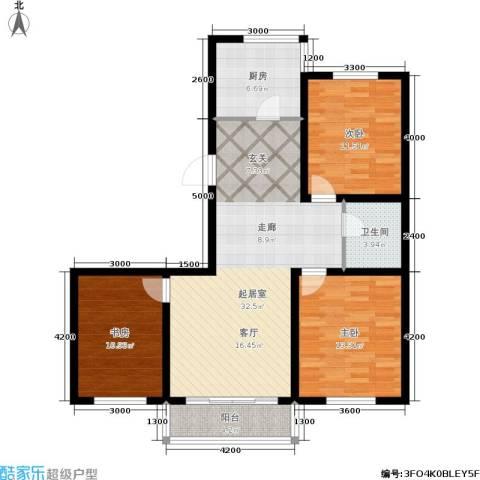 江山别院3室0厅1卫1厨118.00㎡户型图