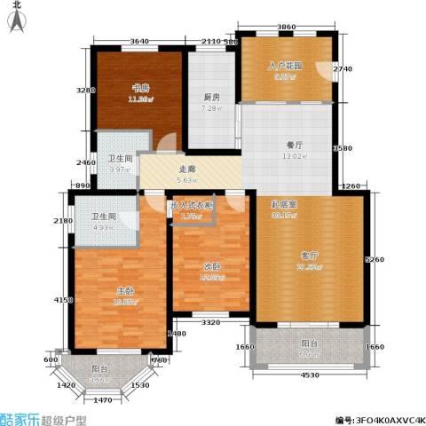绿地老街坊三期 绿地国际花都3室0厅2卫1厨168.00㎡户型图
