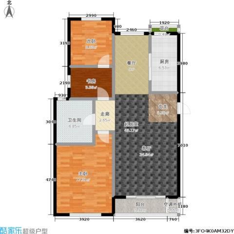 三鑫・顺德园3室0厅1卫1厨101.00㎡户型图