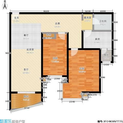 摩根・凯利2室0厅1卫1厨92.15㎡户型图