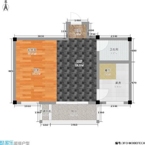 三鑫・顺德园1卫1厨41.07㎡户型图