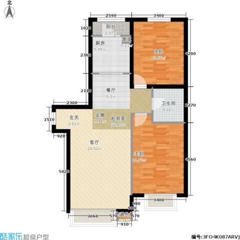 第一城B组团2室0厅1卫1厨80.00㎡户型图