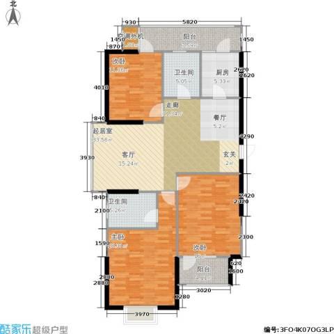 通济名仕阁3室0厅2卫1厨119.00㎡户型图