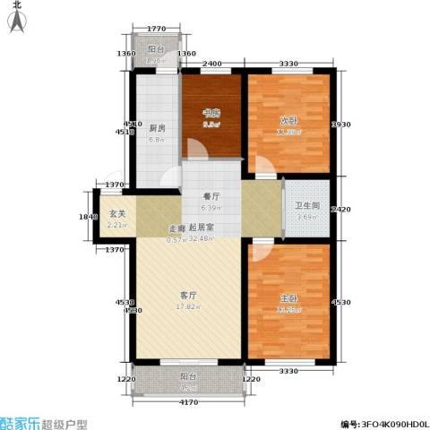 新水湾河畔花园3室0厅1卫1厨102.00㎡户型图