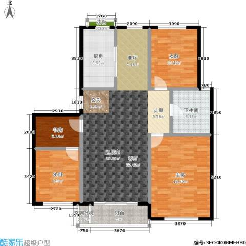 三鑫・顺德园4室0厅1卫1厨111.00㎡户型图