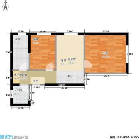 思和苑2室0厅1卫1厨69.00㎡户型图
