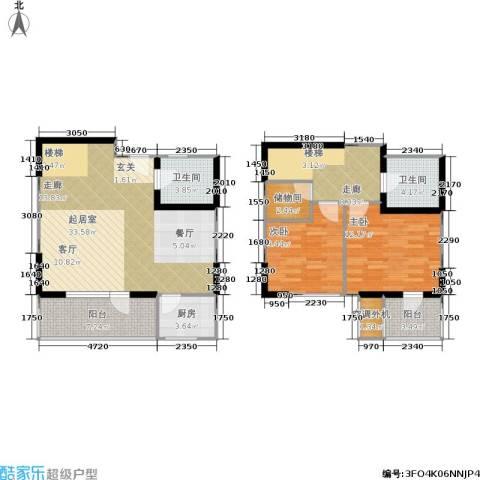 城市天籁2室0厅2卫1厨100.00㎡户型图