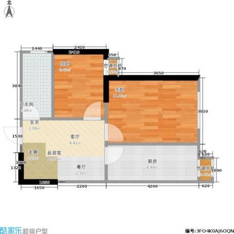 思和苑2室0厅1卫1厨55.00㎡户型图