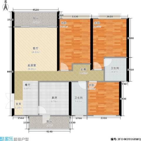 贵格・和顺苑3室0厅2卫1厨106.41㎡户型图