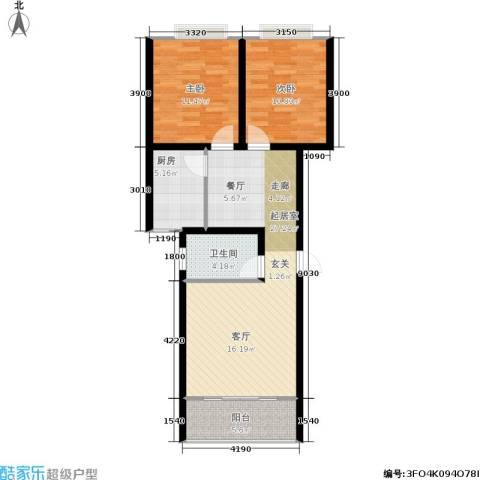 贵格・和顺苑2室0厅1卫1厨69.00㎡户型图