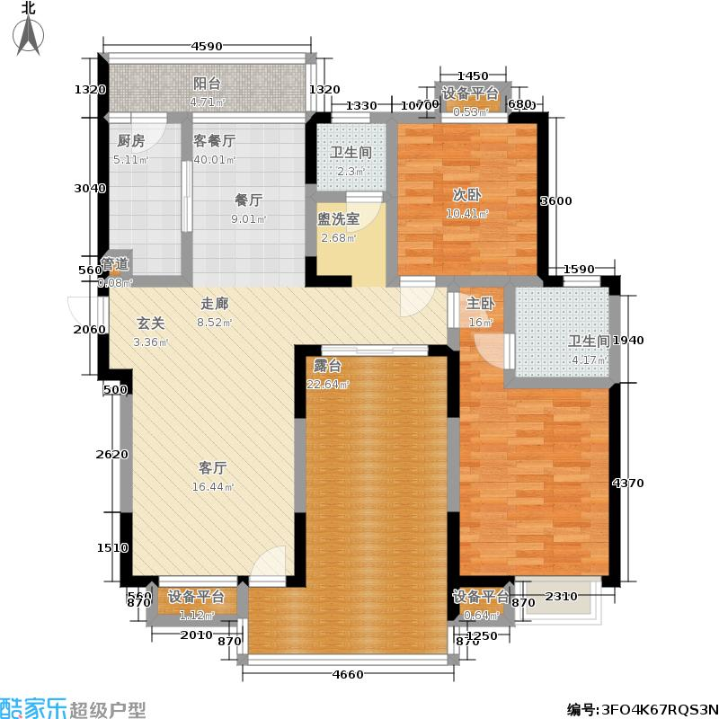 御源林城131.00㎡御源林城户型图三房二厅二卫-131平方米-40套(12/13张)户型10室