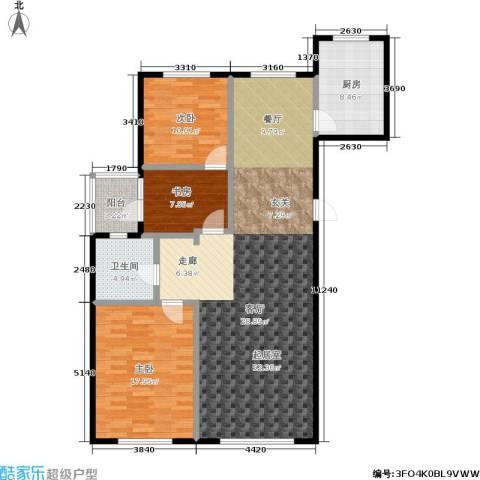 三鑫・顺德园3室0厅1卫1厨120.00㎡户型图