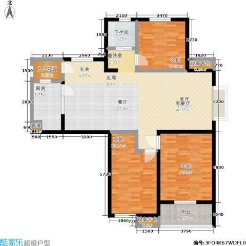 御源林城3室1厅1卫1厨121.00㎡户型图