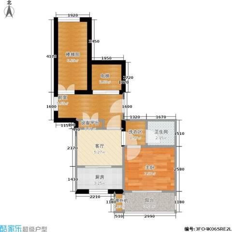 通济名仕阁1室1厅1卫1厨45.00㎡户型图