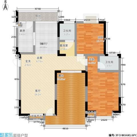 御源林城2室1厅2卫1厨127.00㎡户型图