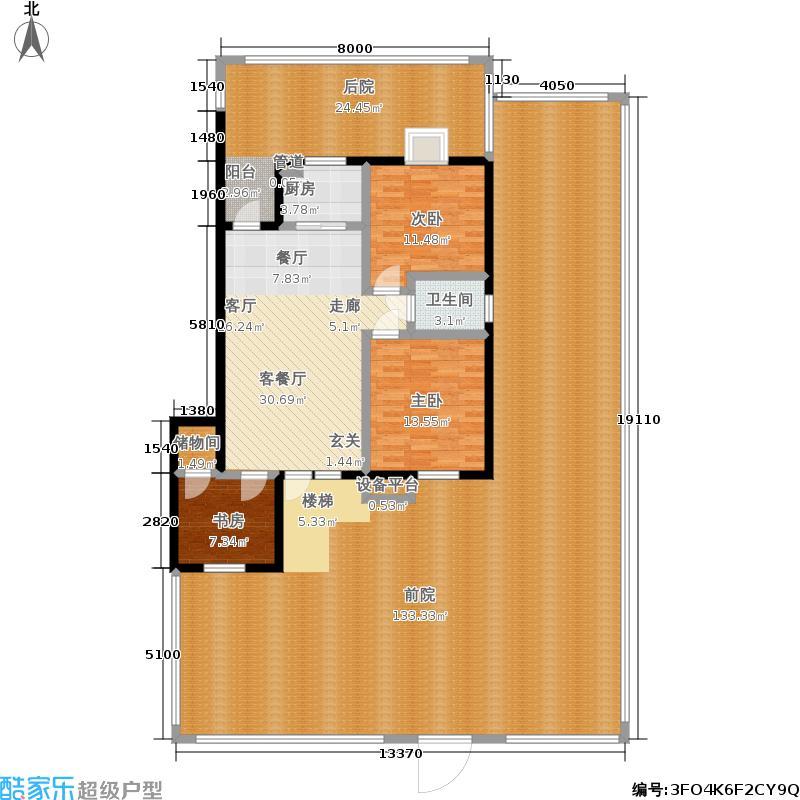 银湖水榭102.00㎡C2户型 三室二厅一卫户型3室2厅1卫