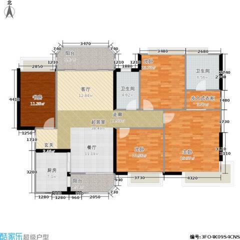 恒大绿洲4室0厅2卫1厨140.00㎡户型图