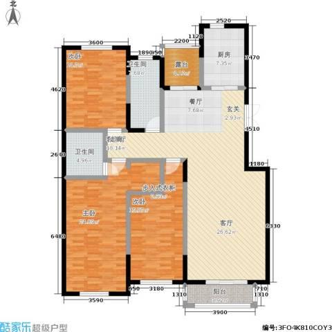锦麟3室1厅2卫1厨177.00㎡户型图